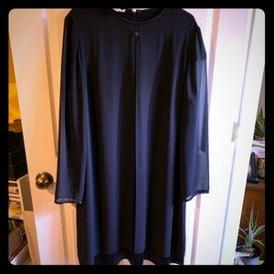 Dressy dress Navy blue long sleeve